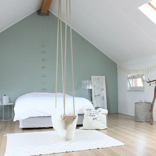 schlafzimmer einrichten einrichtungstipps wendfarbe minzgrün - schlafzimmer farben dachschrge