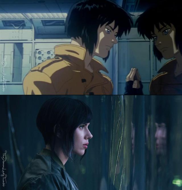 Motoko Kusanagi Anime Vs Movie Anime Ghost In The Shell Motoko Kusanagi