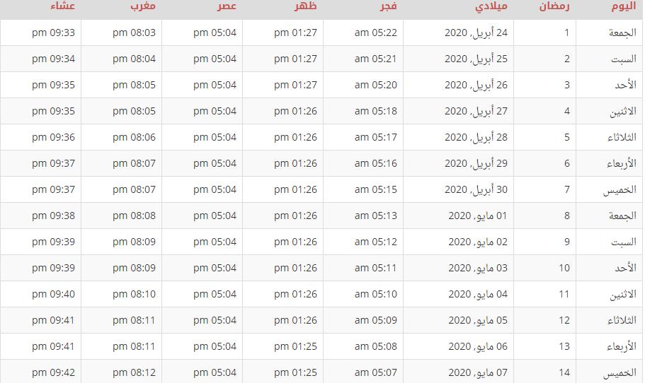 تعرف على موعد الإمساك في المغرب ومواقيت الصلاة طوال شهر رمضان تعرف على موعد الإمساك في المغرب ومواقيت الصلاة طوال شهر رمضان شهد Word Search Puzzle Words Math