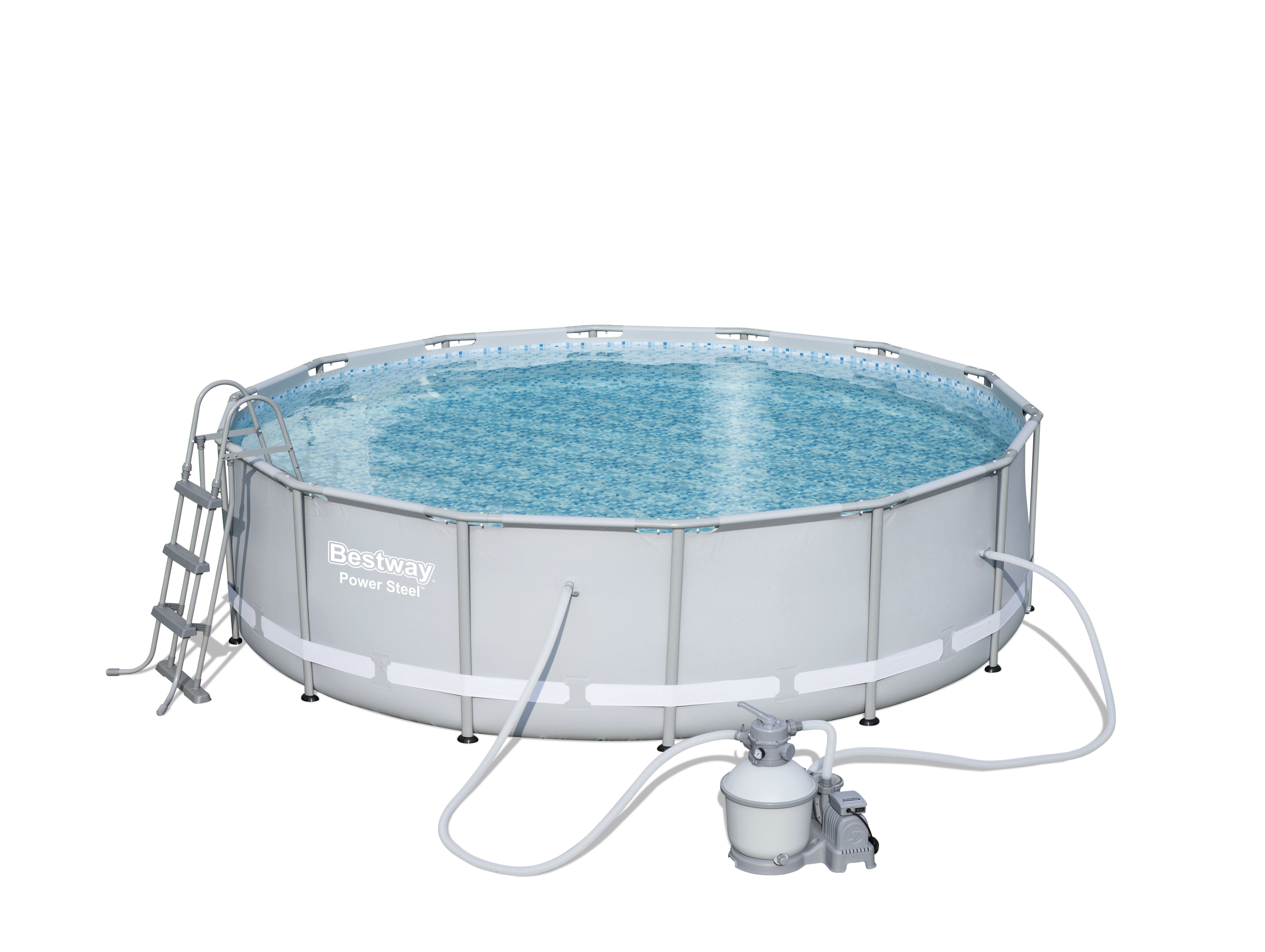 7 in 1 Pool Frame Pool Schwimmbecken Gartenpool 427 x 107 cm Pool BESTWAY