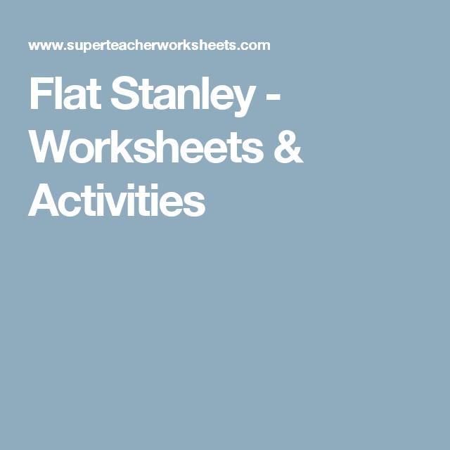 Flat stanley printable worksheets