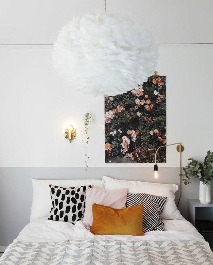 nos astuces en photos pour peindre une pi ce en deux couleurs d co chambre papa pinterest. Black Bedroom Furniture Sets. Home Design Ideas