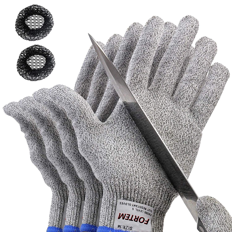 2 Pair STAINLESS STEEL Safety Anti-Slash Cut Proof Stab Resistance Gloves Medium