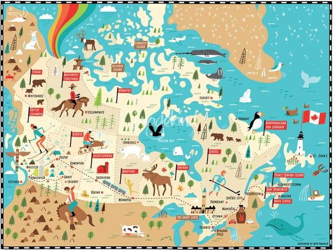 Buy Map Of Canada.Illustrated Map Of Canada By Nate Padavick By They Draw Cook