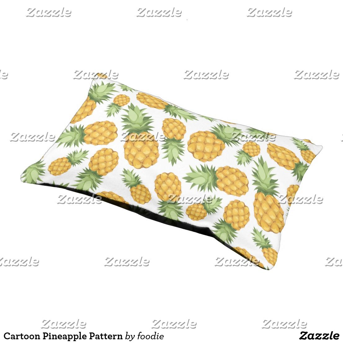 Cartoon Pineapple Pattern Pet Bed Cartoon
