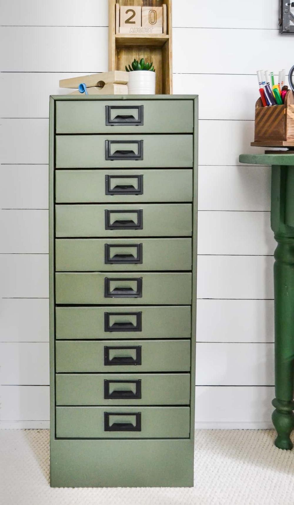 DIY Metal Cabinet Makeover With Paint | Metal storage ...