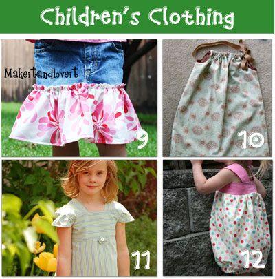 Repurposed children's clothing