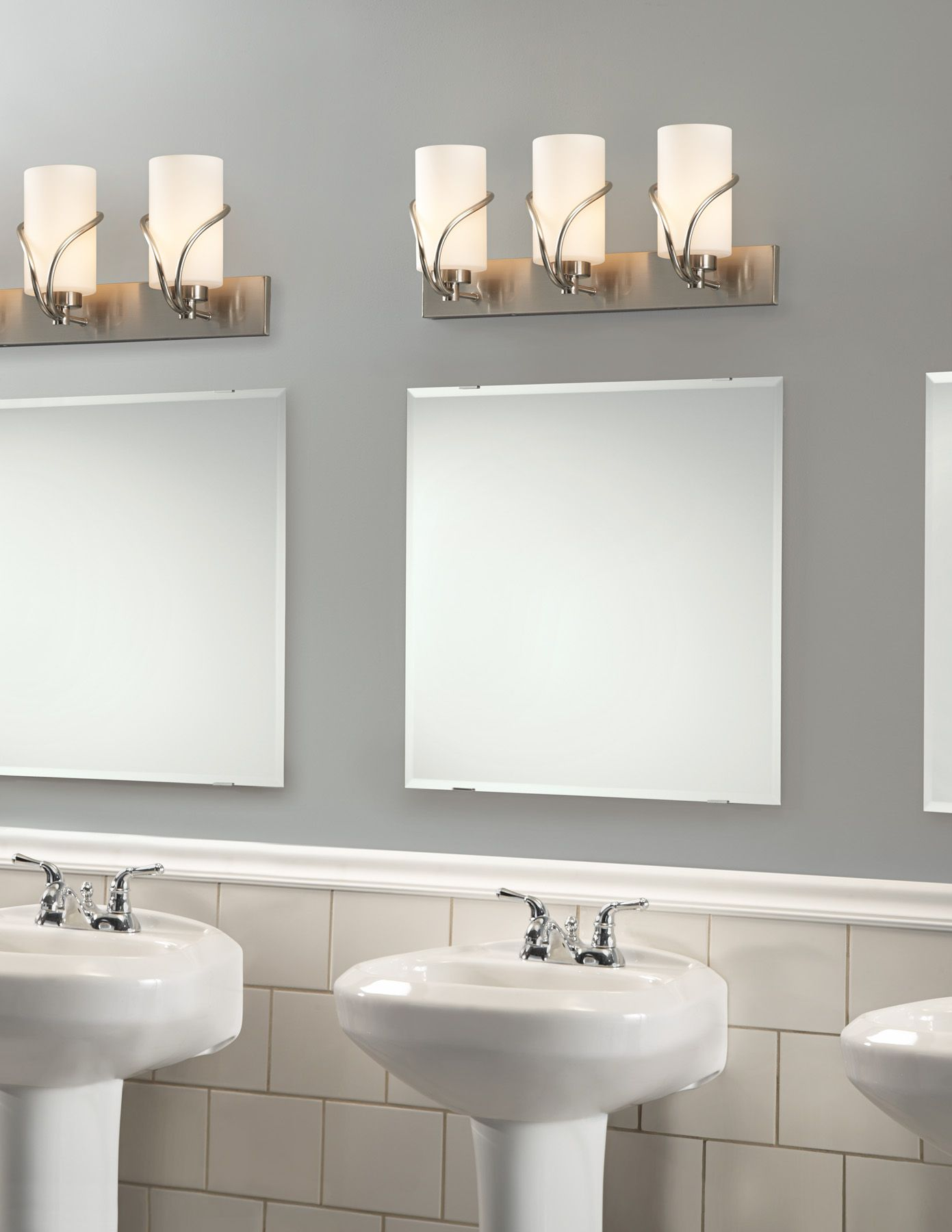 Photo Gallery In Website Awesome Bathroom Vanity Modern Lighting above Square Wall Mirror