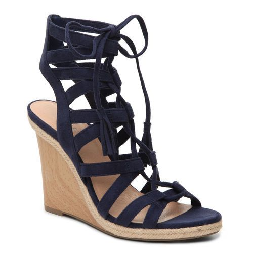 This Lace Up Haylei Wedge Sandal Will Be Amazing In Spring