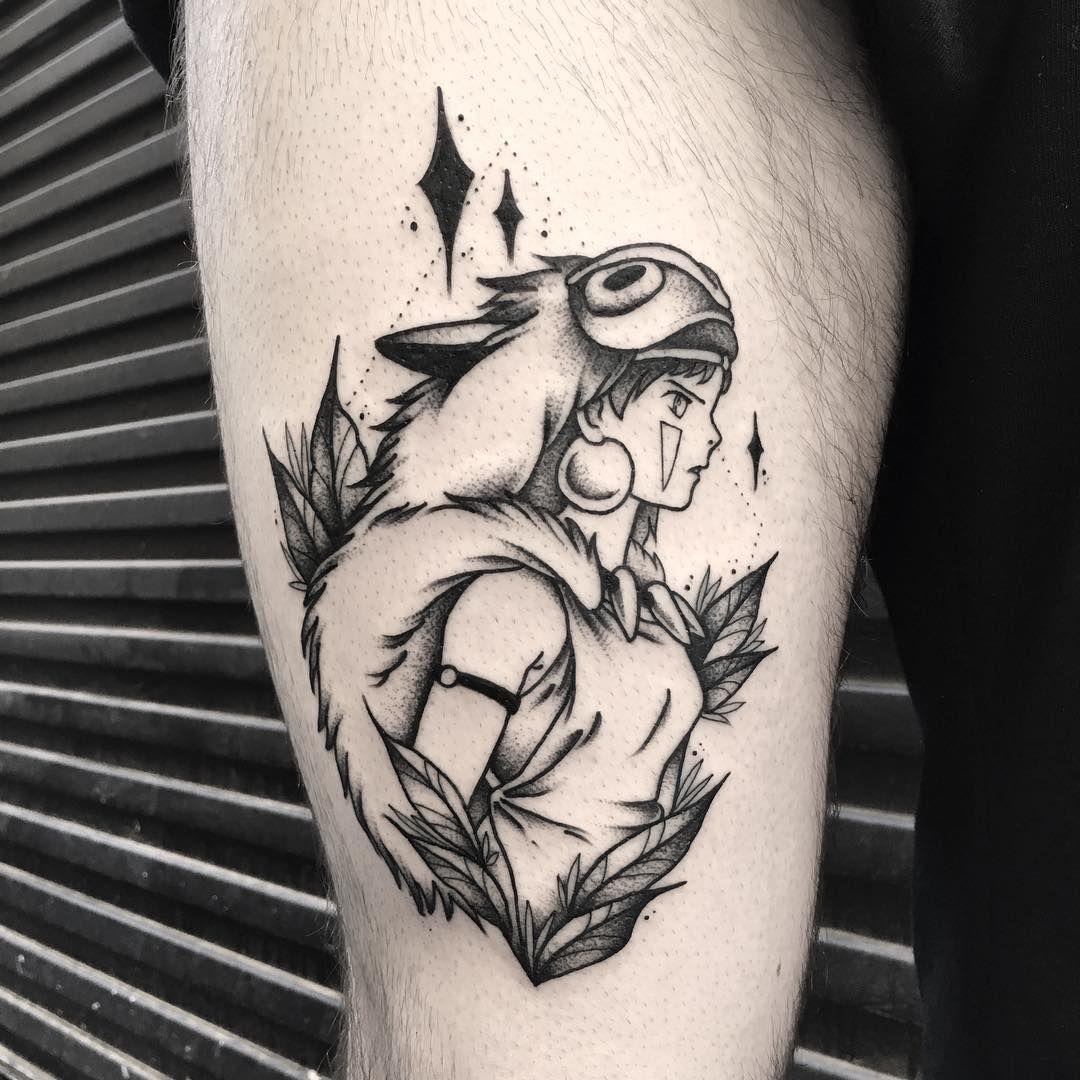 Princess Mononoke by Dane Smith, at Fountain Square Tattoo ...   Princess Mononoke Tattoo Design