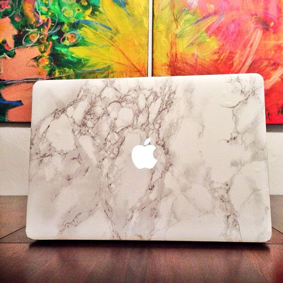 White Carrara Marble Decals For Macbook Add A Touch Of