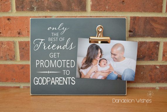 Godparent Gift Christening Gift Idea Baptism Gift Promoted To GODPARENTS}  Godmother Gift Custom Photo Frame  {The Best Of Friends