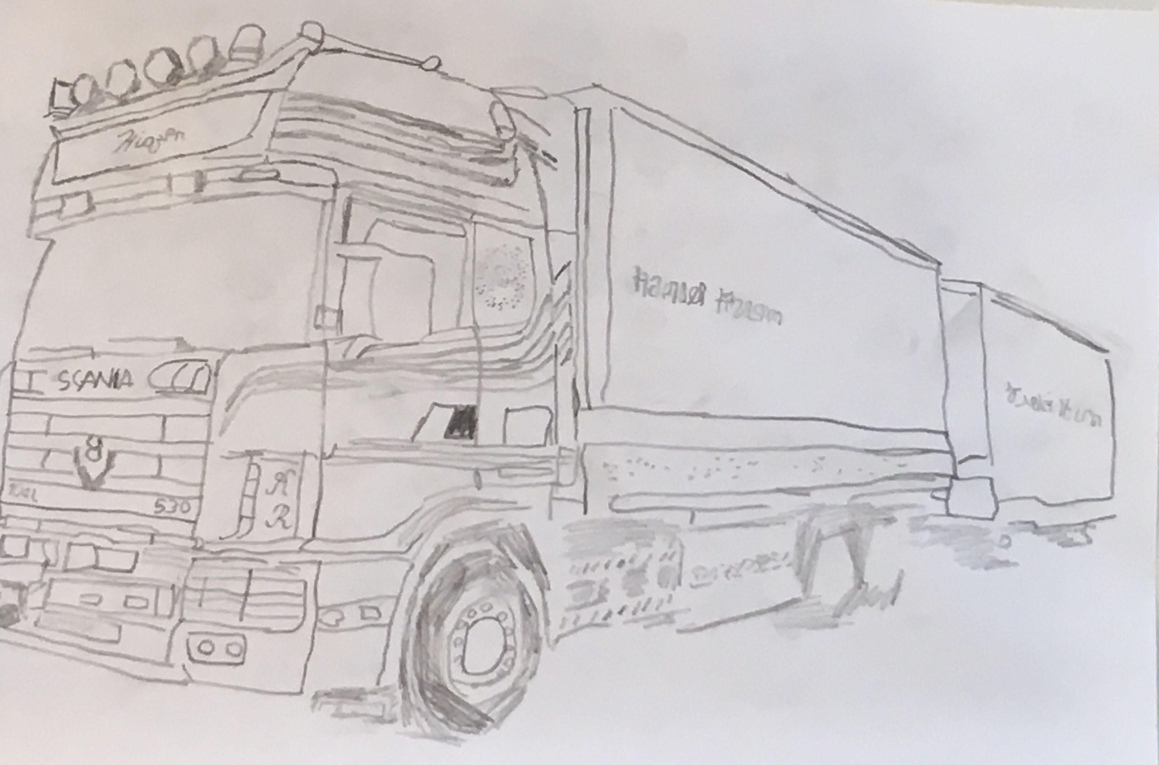 Getekende Camion