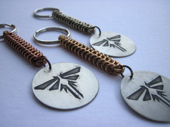 The last of us firefly pendant keychain w copper or brass or the last of us firefly pendant keychain w copper or brass or nickel silver chainmail chain on etsy 2500 mozeypictures Images
