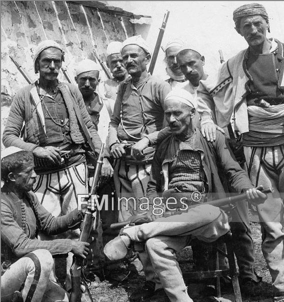 Kosovo, 1910: Albanian armed men somewhere around Kosovo.