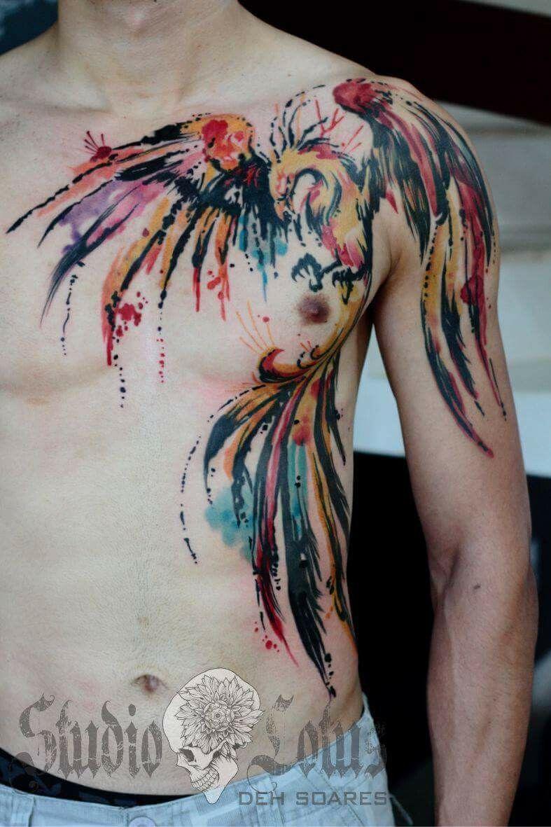 Ave Fénix Color Tattoo Tattoos Tattoo Designs Chest Tattoo