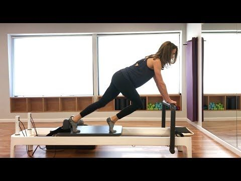 Pilates Reformer: Beginner Class to Stretch + Strengthen Back and Legs #cardiopilates