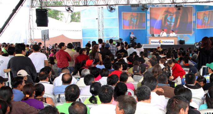 �Ni la prensa, ni Jim�nez nos van a desgastar�: Presidente Correa (VIDEO)