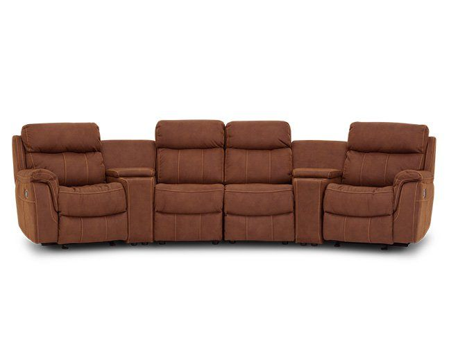 Alpha 6 Pc. Theater Sectional - $1,643