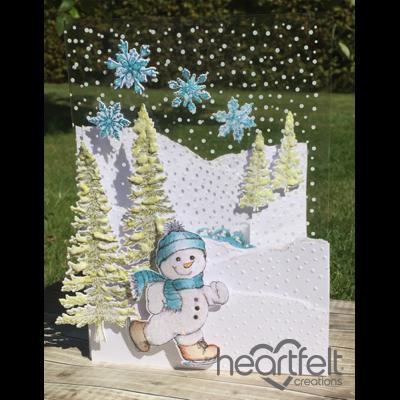 Heartfelt Creations - Snowy Hills Snowman Project