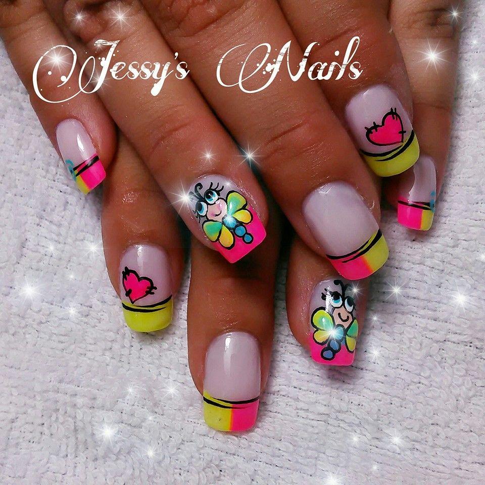 uñas decoradas #uñas #fucsia #nailart #pink #uñas bonitas ...