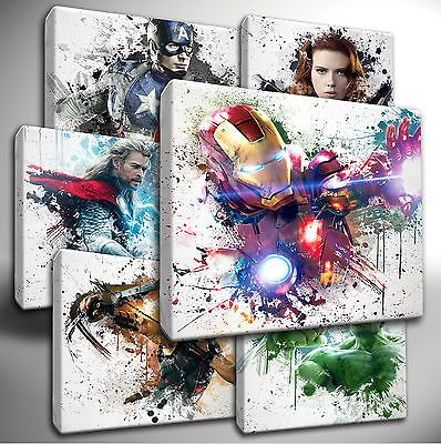 choose your marvel avengers paint splatter canvas wall on canvas wall art id=60342