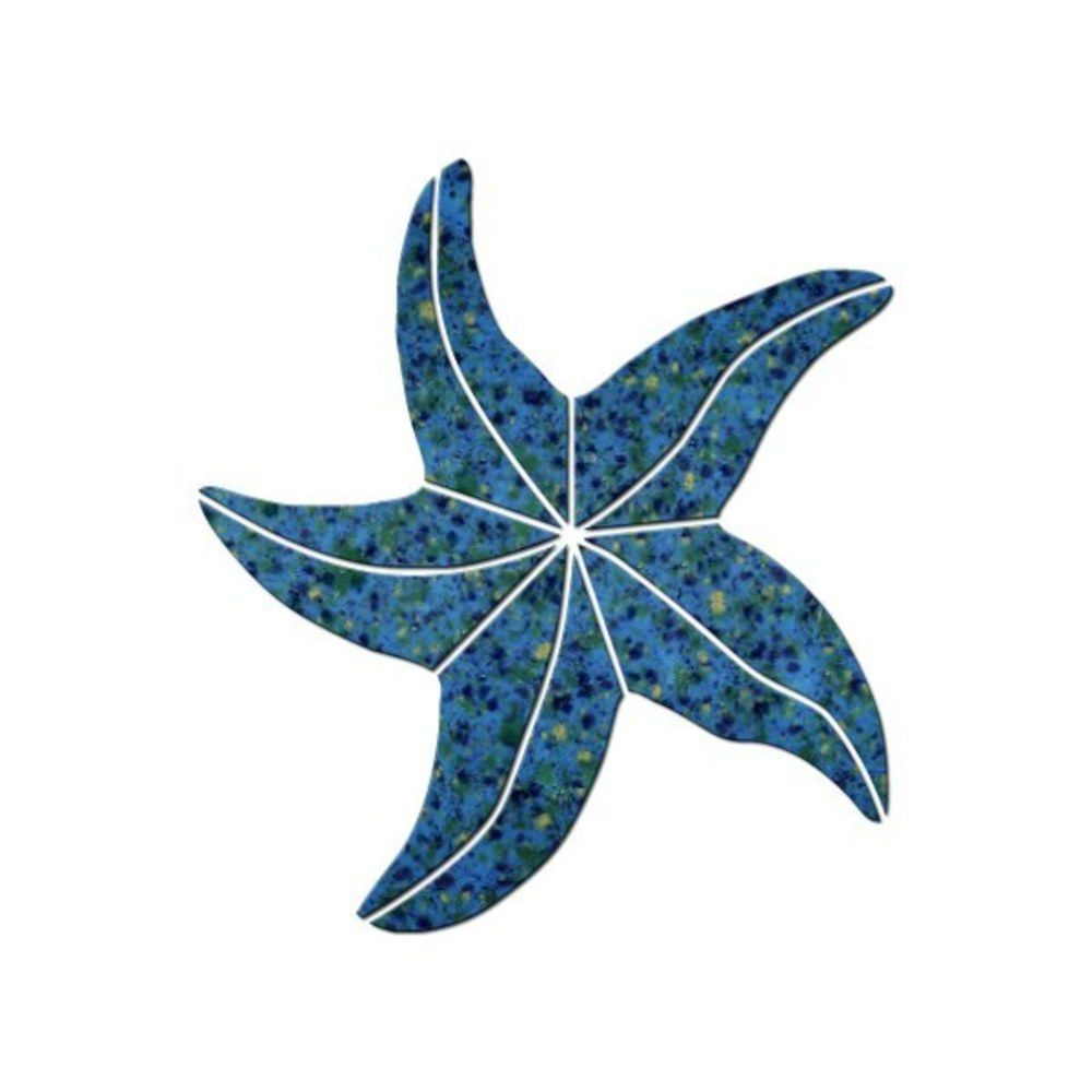 Small Starfish Ceramic Swimming Pool Mosaic (4\