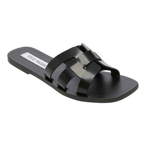 2df583260f9 Women's Steve Madden Sicily Sandal - Black Leather Sandals ...