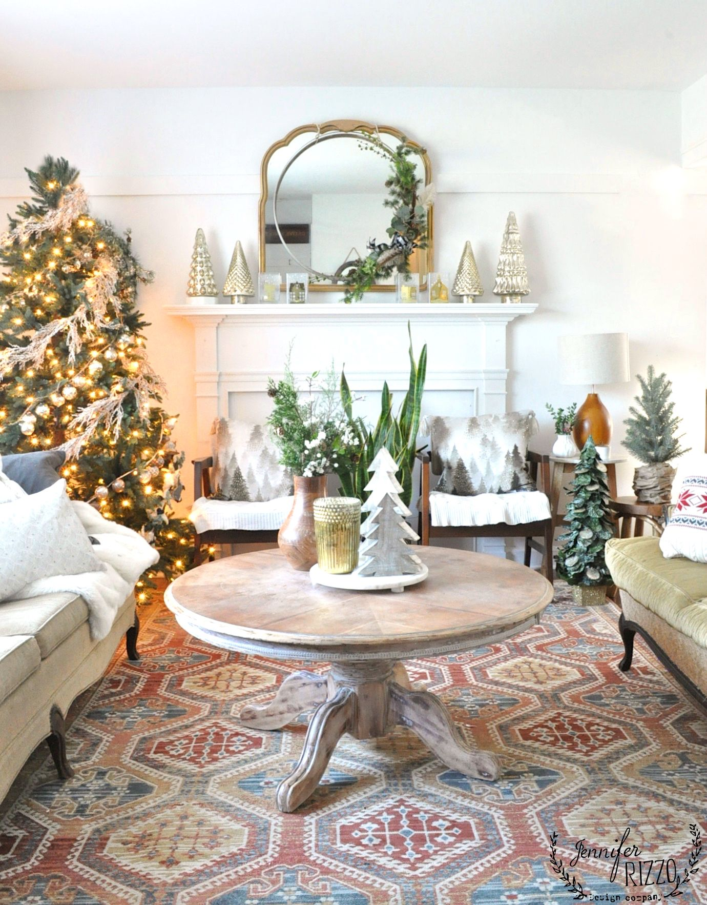 My Holiday Family Room A Bit Vintage Boho And Midcentury Mod