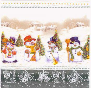 Decoupage Paper Napkins of Christmas Snowman Trees Snow | Chiarotino #papernapkins