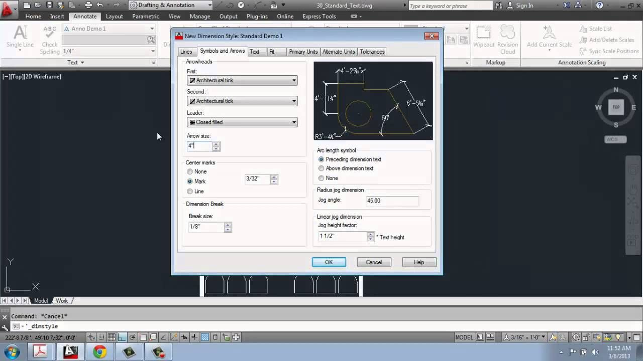 Wonderful Autocad 2013 2d Drafting Basics Dimensions