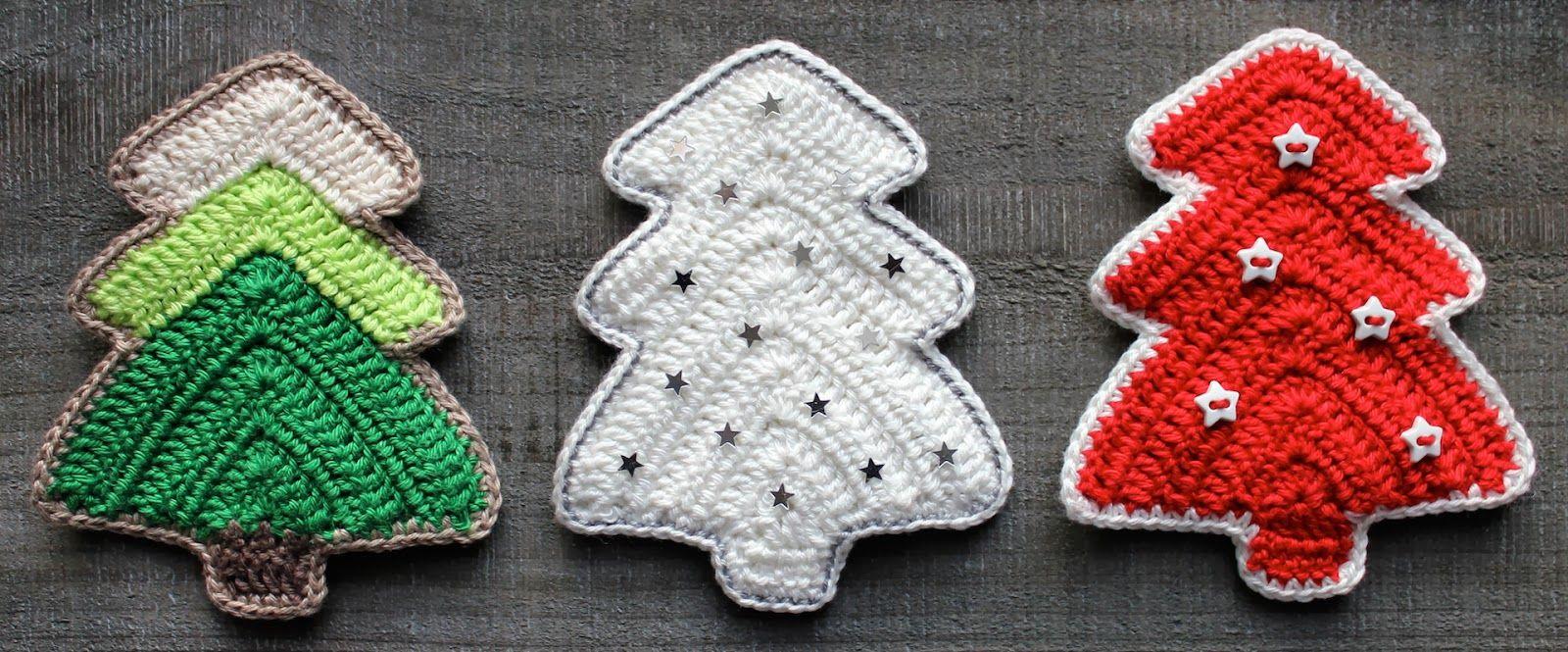 Kerstboom haken | draadenpapier | Gratis patroon van Crochet Today ...