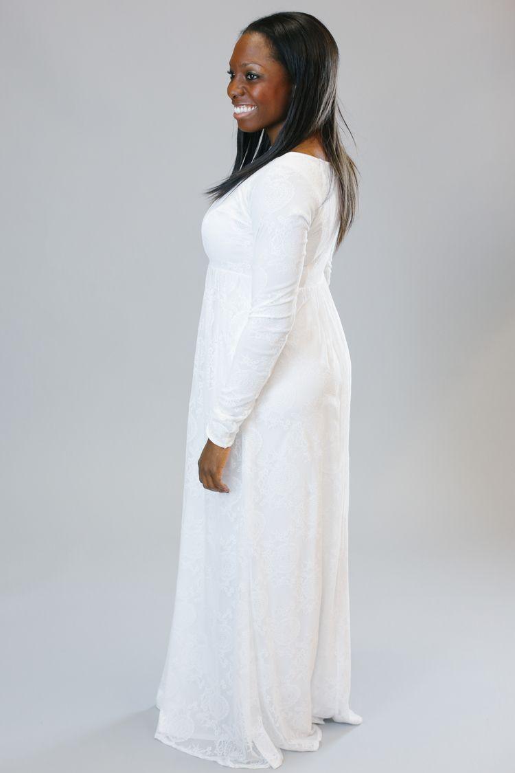 Elaine Temple Dress Dresses Lds Temple Dress [ 1125 x 750 Pixel ]