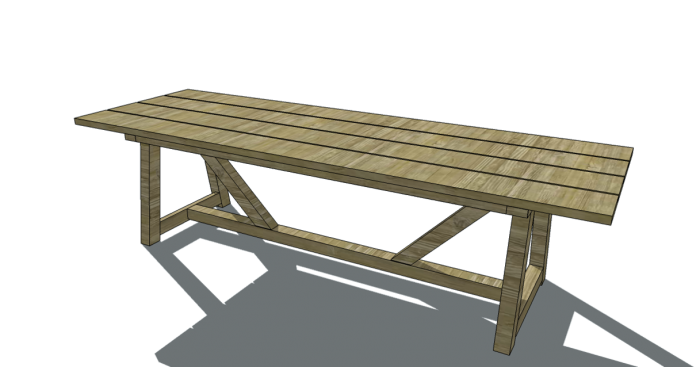 Free Furniture Plans To Build A Restoration Hardware Inspired Provence Beam  Dining Table C/o