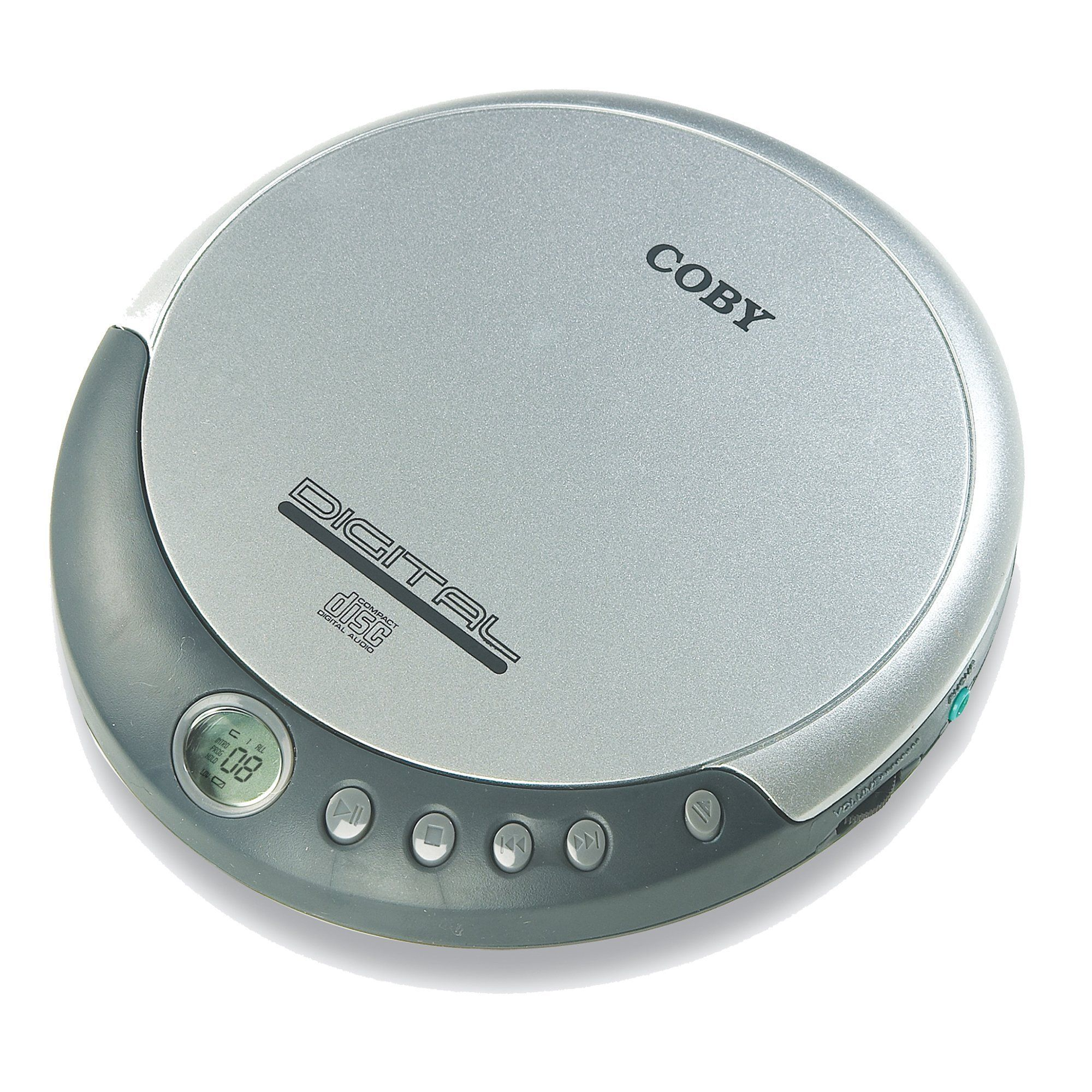 Coby CXCD109 Personal CD Player with Stereo Headphones, Silver