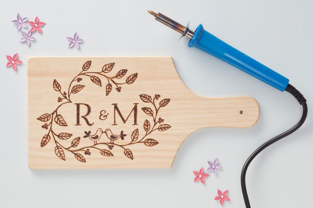 If you want to make a special gift for a loved one which will be treasured and used for years to come, look no further than pyrography! Perfect for both male and female gifts, find your favourite wooden blank and create a design - we love this romantic initialled chopping board, which is perfect for presenting food.
