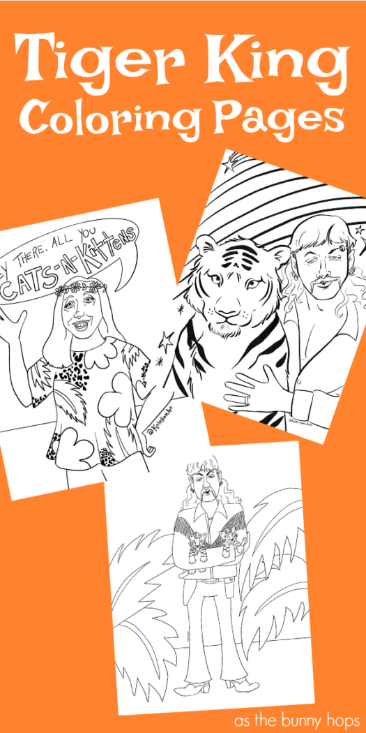 Throw On Some Cat Print And Grab Your Crayons These Tiger King Coloring Pages Are Ready To Download Coloring Pages Color Cat Print