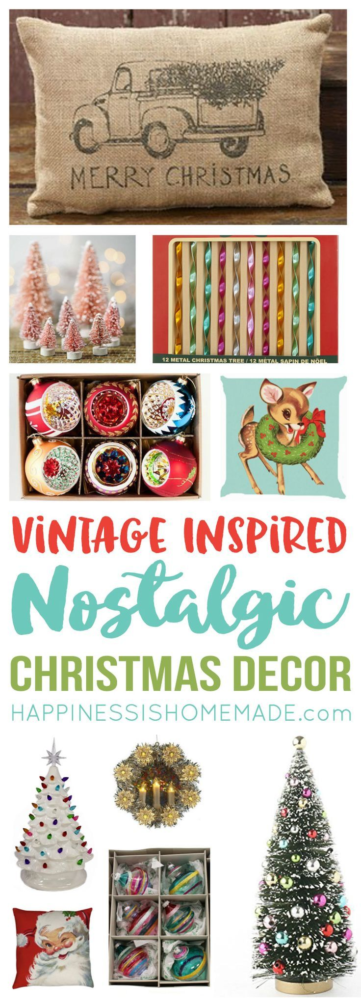 Reproduction vintage christmas decorations