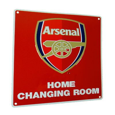 Arsenal FC Decorative Metal /'/'Changing Room/'/' Sign Official Merchandise