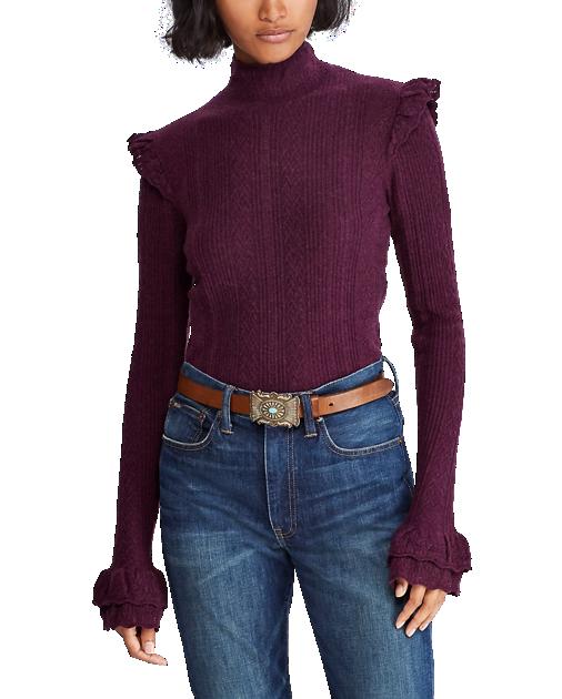 Fashion Polo SweaterTrends Women Turtleneck Pointelle Ralph tQCrshd