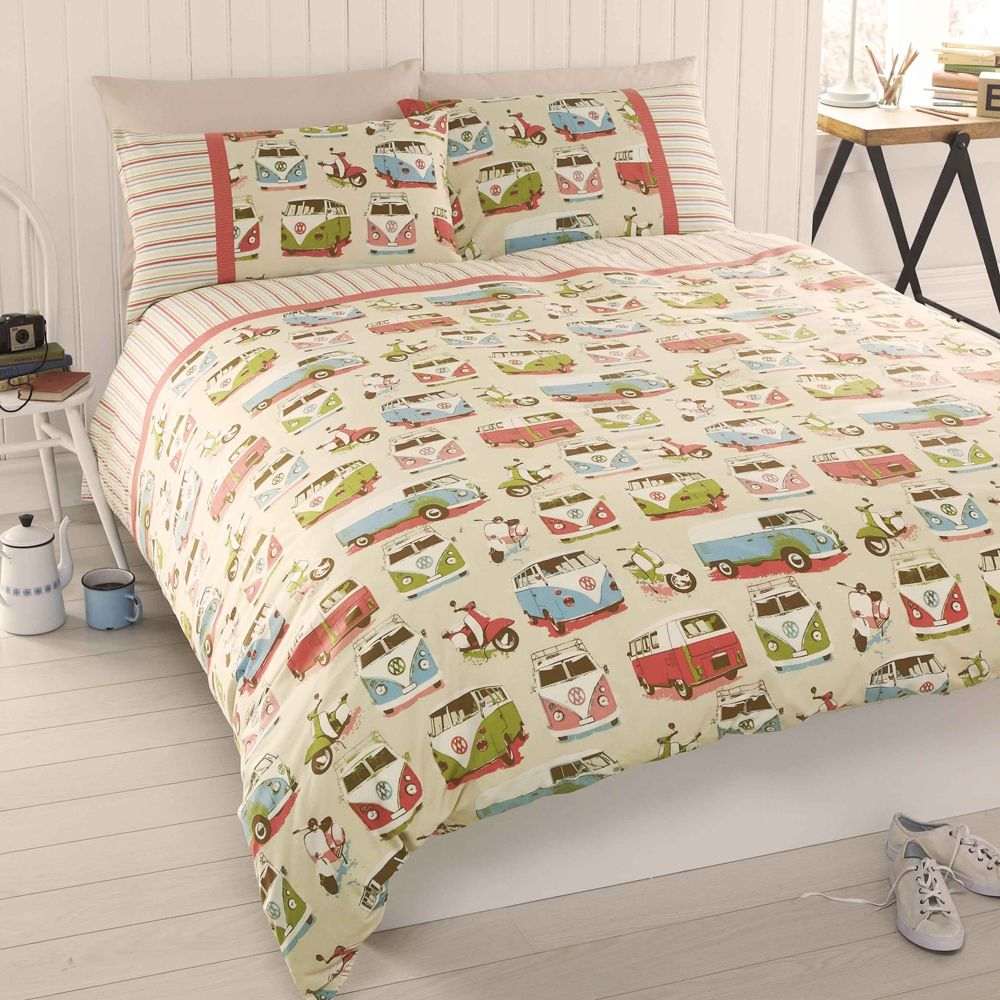 Cool Campervan Duvet Cover Set Love to cars (VW Vans