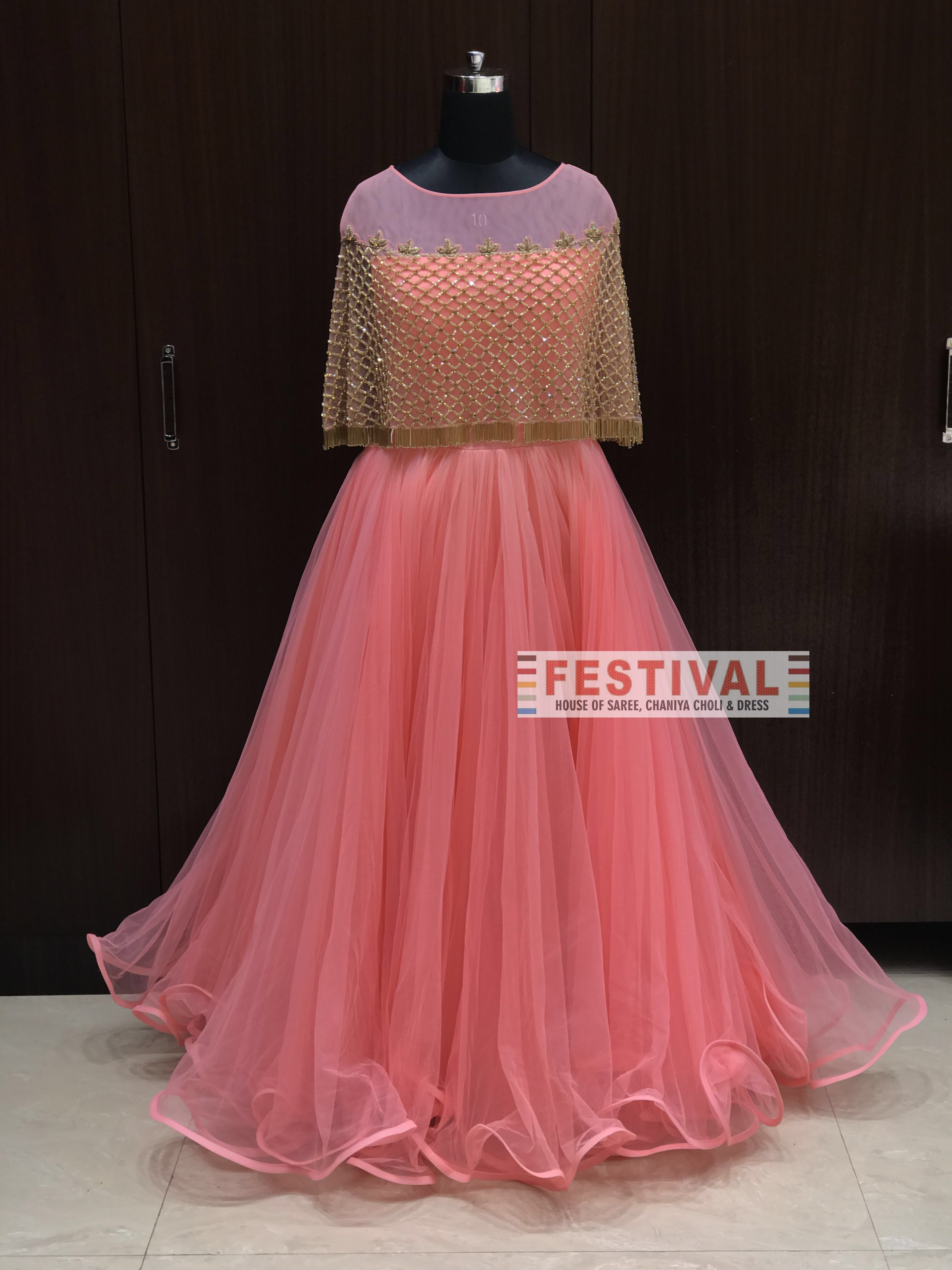 Beautiful Gown ... Shop at FESTIVAL LALGATE Surat or Whatsapp us on ...