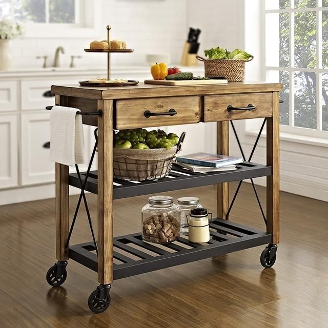 Crosley Roots Rack Industrial Kitchen Cart: Crosley Roots Rack Industrial Kitchen Cart In 2019