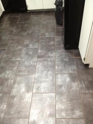Trafficmaster Ceramica 12 In X 24 New Concrete Resilient Vinyl Tile Groutable Pinterest Tiles And
