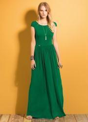 Vestido Longo (Verde) com Manguinhas