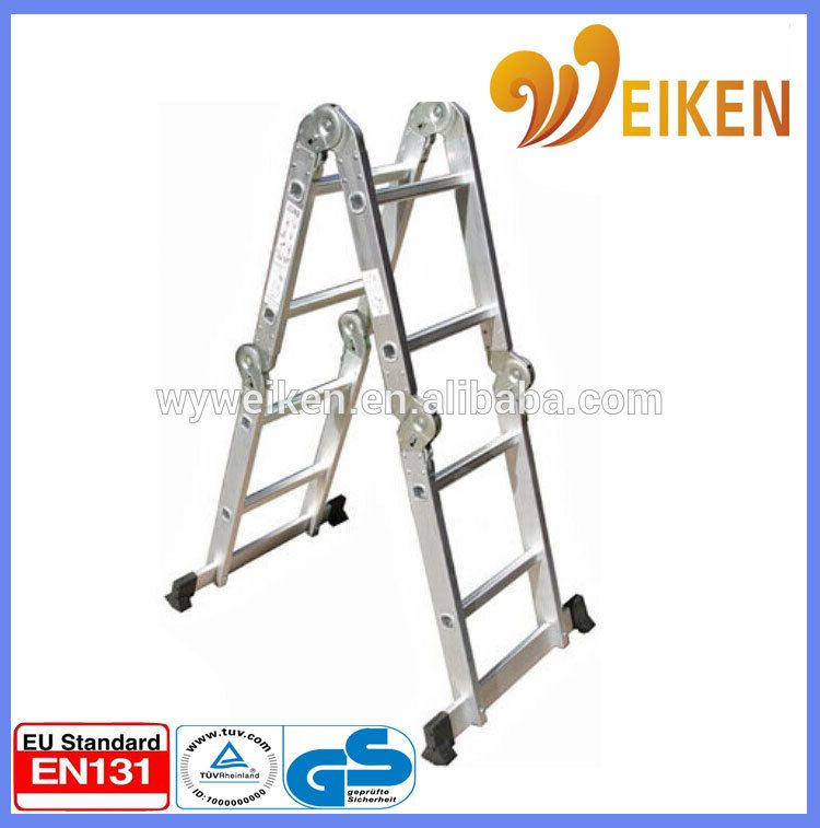 Wuyi Portable Multi Purpose Ladders Aluminum Foldable 2 6m With