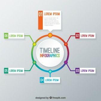 タイムラインインフォグラフィックテンプレート design idea diagram