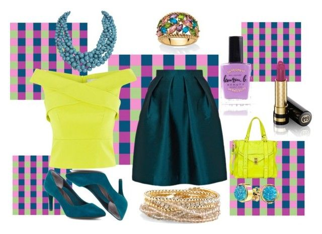 """teal and lime"" by moestesoh ❤ liked on Polyvore featuring Coast, Paper London, Proenza Schouler, Rockport, Bling Jewelry, Humble Chic, Palm Beach Jewelry, Torrid, Lauren B. Beauty and Gucci"