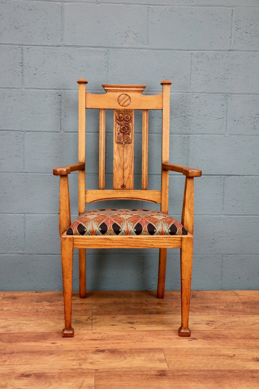 Arts and crafts oak chair antiques atlas oak chair