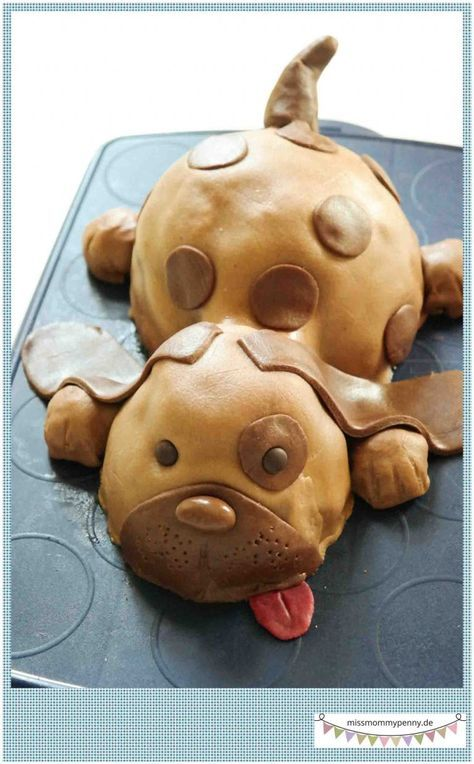 kinderkuchen torte hund ava pinterest kuchen backen und geburtstagskuchen. Black Bedroom Furniture Sets. Home Design Ideas